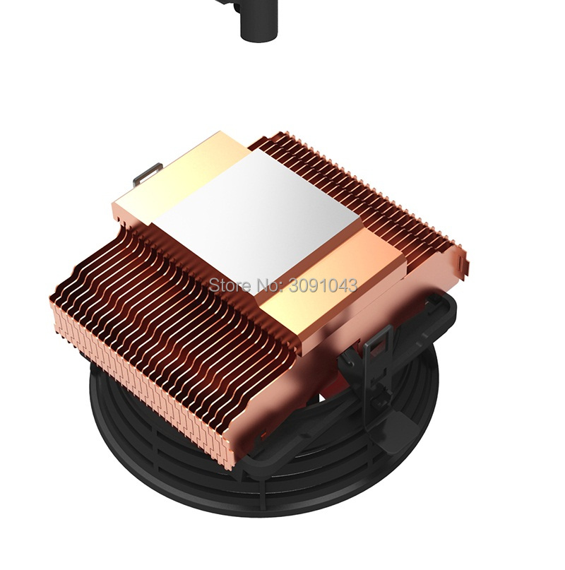 PcCooler Q100M Copper plating CPU cooler 4pin 10cm PWM quiet Fan for AMD for Intel 775 1150 1151 1155 1156 cooling radiator fan