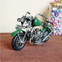 PANFELOU 21*7*11cm The green forward conjoined motorcycle leather cushion metal crafts for home decor Model  articles