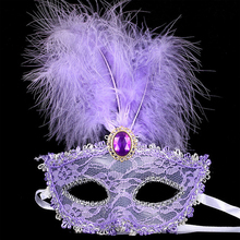 2017 New Party Masks Masquerade Masks Halloween Christmas Feather Mask Fashion Women Sexy Half Face Masked EJ366131(China)