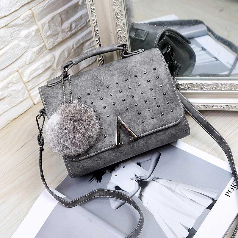 Fur Women Crossbody Bags Designer Handbags Rivet Famous Brand Totes Bag Satchel Women Messenger Bags Small Shoulder Handbag<br><br>Aliexpress