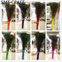 Wholesale 50 Pcs/Lot 70-80CM/28-32 Inch High-Quality Natural Peacock Feathers DIY decorative feathers Decoration Peacock Feather