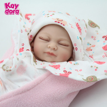 10 Inch Gentle Touch Vinyl Preemie Real Silicone Baby Doll Sleeping Girl Reborn BabiesFor Sale Fashion Play Toys Birthday Gift