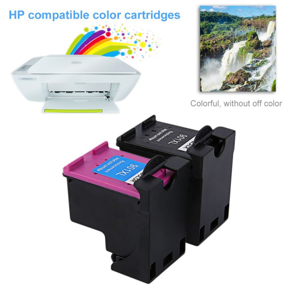 2Pcs 901 For HP901 XL HP901 Color/ Black Ink Cartridges For HP OfficeJet 4500 J4580 J4550 J4540 J4680 J4535 Printer