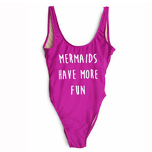 Momoluna MERMAIDS HAVE MORE FUN One Piece Sexy Bodysuits Summer Backless Women Jumpsuit Rompers Swimsuit Body Femme(China)