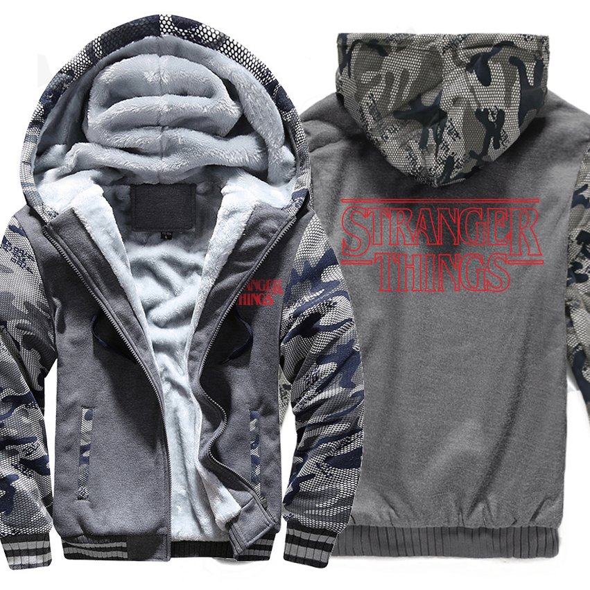 cothing fashion things man's hoodies 2019 winter warm wool liner solid Camouflage color sweatshirt raglan long sleeve tracksuit