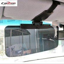 2017 New Car Windshield Sun shade Car Accessories Goggles Auto Retractable Side Sunscreen Shade Car SunVisor Black SD-2302(China)