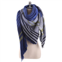 2017 Winter luxury Brand New Women Fashion Scarf Oversize Blankets Wrap Soft Wool StripedSquare Shawl Size Pashmina Scarves(China)