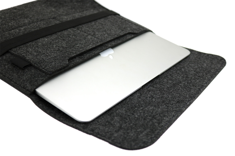 Bag for Macbook Air 11 12 13 15 Pro Retina A1706 A1708 A1707 Touch Bar Grey Black  Pocket<br><br>Aliexpress