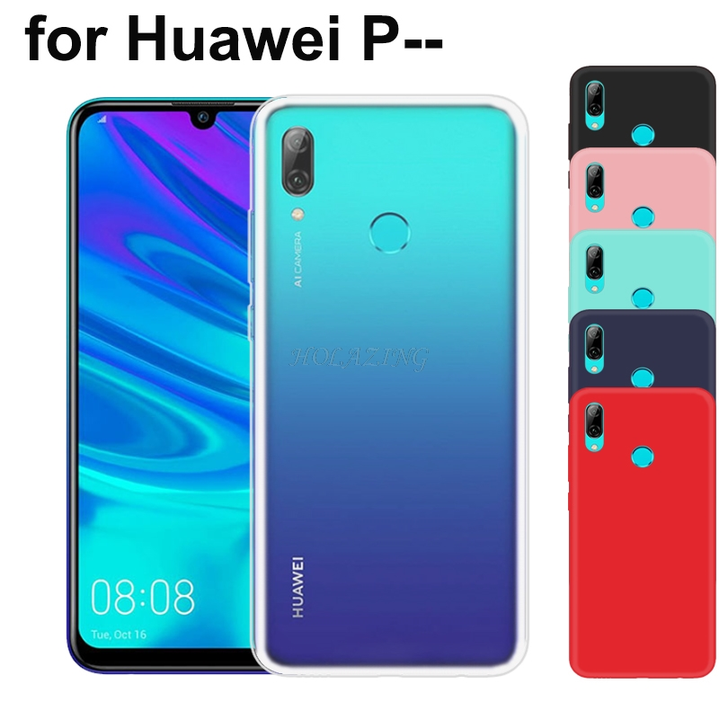 Matte Clear Soft Silicone TPU Case For Huawei P20 Lite P20 P30 Pro P10 P9 Plus P8 Lite 2017 P Smart 2019 Cover Red Black(China)