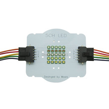 Customize 5 Channel 25Leds Cree XPE XP-E2 RGBWW Led Emitter Lamp Lights Red Green Blue White Warm White With Connectors Wires(China)