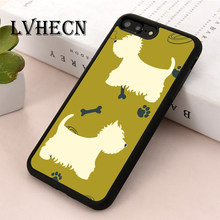 Чехол для телефона из ТПУ LvheCn чехол для iPhone 5 5S SE 6 6s 7 8 plus X XR Xs Max Westie Highland Terrier Dogs(Китай)