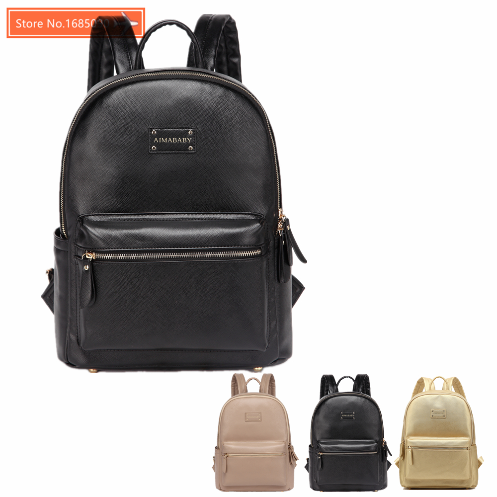 Leather Backpack baby diaper bag nappy bags Maternity mommy Changing Bag wet infant for babies care organizer 109<br>