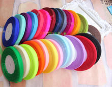 "Wholesale 50 Yards 3/8"" 10mm Organza Ribbon Bow Wedding Decoration Lace Crafts  22 colors are available"