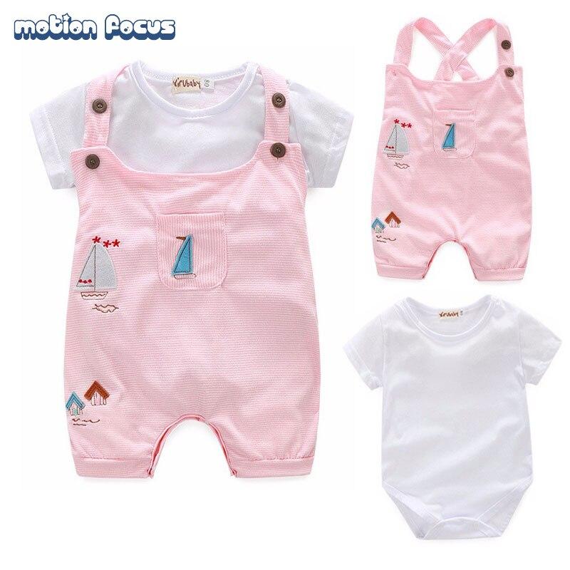 Summer Newborn Infant Baby Boy Girl Rompers Jumpsuit Short Sleeve Cotton Babies Rompers 2pcs Clothes Set for Recem Nascido<br><br>Aliexpress