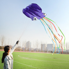 4 Meters Software Octopus Kite Multi color Children Toy No skeleton Kites Outdoor For Summer Picnic Gift CZL8016