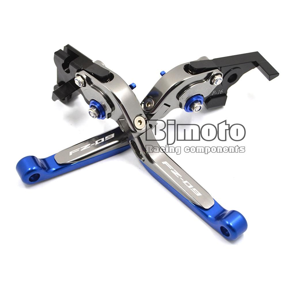 BJGLOBAL Motorcycle CNC Adjustable Folding Extendable Brake Clutch Levers Motorbike Brake For Yamaha FZ09 2014 2015<br><br>Aliexpress