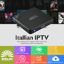 Android IPTV BOX R68 Android TV Box 2GB 16GB with one year Italy IPTV 2000+Europe Channels German Spain Belgium France UK(China)