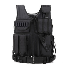 GNNFIC Men's Military Tactical Vest Army Hunting Molle Airsoft Vest Outdoor Body Armor Swat Combat Painball Black Vest for Men(China)