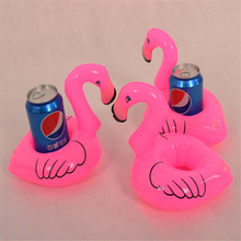 10PCS Mini Pink Flamingo Inflatable Drink Holders Floating Toy Pool Can Party Bath Bachelorette Party Supplies Free Shipping,Q