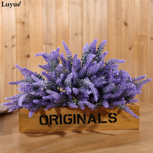 Luyue Official Store 6pcs/lot Romantic Provence Artificial Lavender Flower Wedding Flowers Table Desk Home Party Decorative