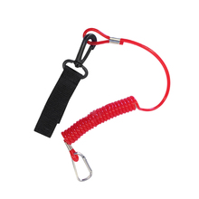 New 2 Color Kayak Paddle Leash - Canoe /Fishing Rod/Surf Ski Board Coiled Lanyard Porable Paddle Leashes Sports Acce Bungee Cord