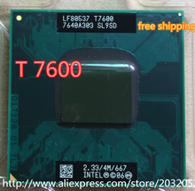 Intel Core Duo T7600 CPU 4M Cache,2.33GHz,667MHz FSB Scoket 478,Dual-Core Laptop processor for 945 chipset(China)