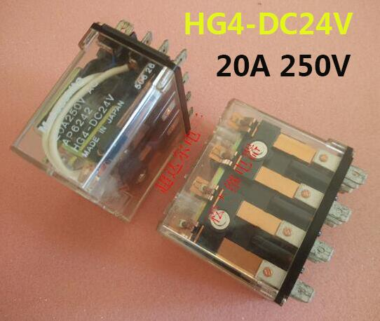 relay HG4-DC24V HG4DC24V 20A 250V 12PIN<br>