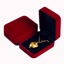 Free shipping Wholesale 12pcs/Lot Dark Red Fashion Velvet Jewelry Necklace Gift Packaging Square Display Box Case Organizer