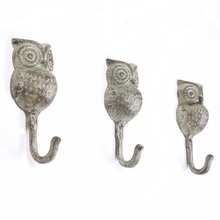 American country cafe shop adornment retro cast decoration wrought iron butterfly owl hook cloth cap hanging art
