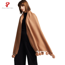 scarf wool Scarf women Long winter Female Big Shawls and wraps European style hijab warm scarf luxury brand designer for ladies(China)