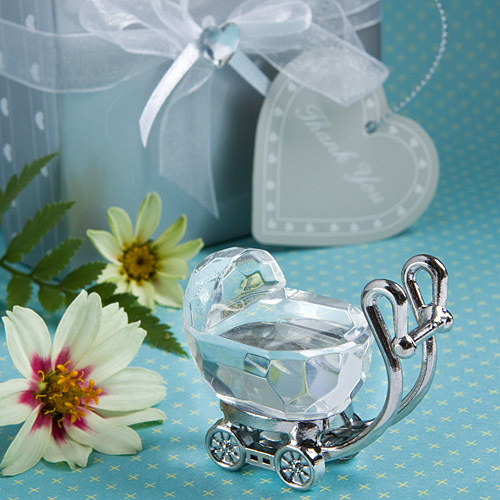 20pcs Free Shipping Baptism Baby Favor Boy Carriage Crystal Shower Return Gift Kids Birthday