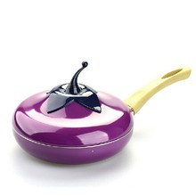 2017 Most popular Fruit Eggplant Frying Pan Colour Saucepan Ceramic Pan Grill Pan Cast Aluminum Cookware Gas Grill Pan Drop ship
