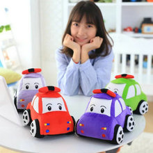 Cute coloured Car Fish Plush Toys Plush Car cloth Doll 4 Colors kids toys baby doll Pillow Cushion birthday Christmas present(China)
