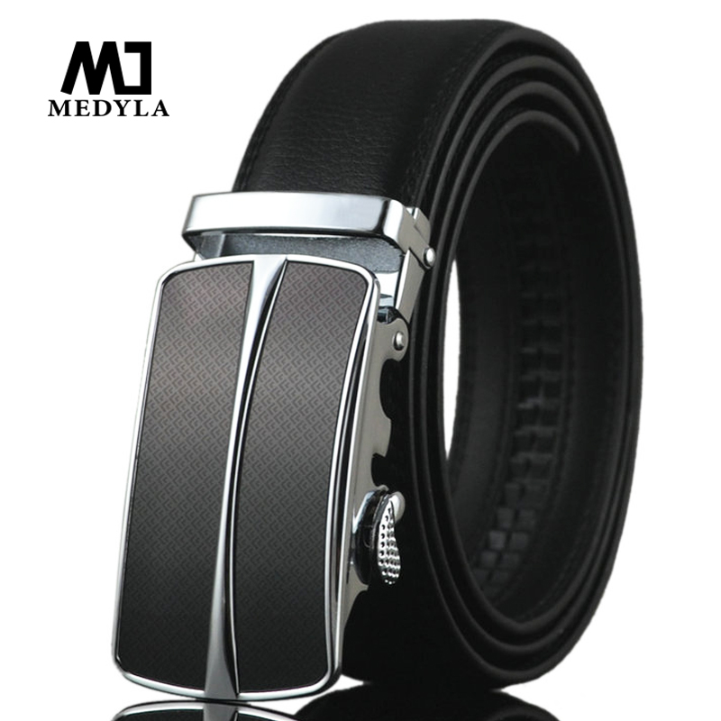 MEDYLA New Arrival Men Automatic Buckle Brand Designer Leather Belt Business Belt Mens Strap High Quality and Luxury Cummerbund(China)