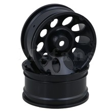 Mxfans Black Plastic 52mm Dia 10 Holes Climbing Wheel Rims for RC 1/10 On Road Racing Drift Car Pack of 4(China)