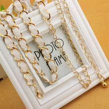 2017 Fashion metal waist chain Women Belts Cummerbund