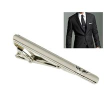 New Simple Necktie Tie Clasp Clip Gentleman Metal Silver Tone Girl Fashion KQS(China)