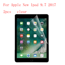 Clear Tablet LCD film Screen Protector For Apple New Ipad 9.7 2017 Reinforced Protection Ultra thin Film 2pcs in 1 package