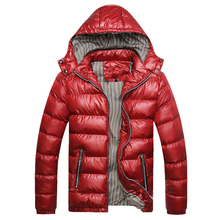 2017 New Jackets Men Winter Windproof Mens Coats And Jackets Hooded Warm Quality Solid Zipper Casual Parkas Men Plus Size M-4XL(China)