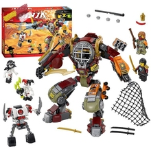 New Ninja Model Bricks Kit Compatible lego 70592 Ninjago Salvage M.E.C High Quality Building blocks DIY educational toys