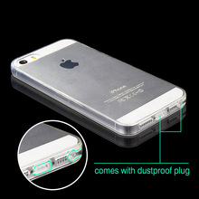 TPU Case For Iphone 5S 5 Silicone Cover Clear Rubber Slim Ultra Thin Transparent Soft TPU Cover For Iphone 5S 6 7 Plus Case