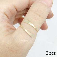 2pcs Bypass Thumb Ring Handmade Wrap Around Statement Bypass Ring Modern Simple Minimalist Jewelry for women Christmas gift