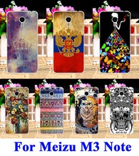 Custom Painted Owl Cell Phone Case For Meizu M3 Note Back Cool Skull Shell Cover For Meizu Meilan Note 3 Back Fundas Capa Bag