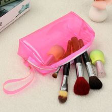 Clear Womens Cosmetic Bags Transparent Multi Functional Travel Toiletry Zip Pouch Plastic PP Bag Lady Makeup Organizers Case