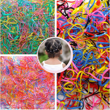 Sale 300pcs Girl Rubber Ponytail Elastic Hairband Rope(China)