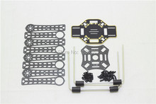 Newest LJI 380 X4 380mm Wheelbase Carbon Fiber Mini Quadcopter Frame w/ PCB Board RC FPV Drone + Aluminum Landing Gear Skid