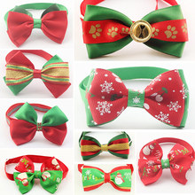 50 Pcs/Lot Armi store Handmade Christmas Dogs Festival Bow Ties Dog Tie 6011036 Pet Jewelry Accessories Wholesale(China)