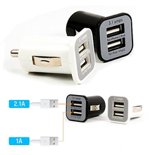 New Micro 3.1A Double Dual USB Car Charger Adapter For IPhone 7 6 plus 5s /ipod/ipad/Samsung/All Mobile Phone 500pcs/lot