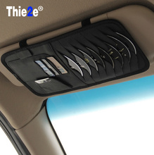 high-grade Sun Visor Storage Bag Car Notes Pouch CD Receive Bag DVD Disk Card Visor Case Folder Pocket for e90 e60 e46 e39(China)