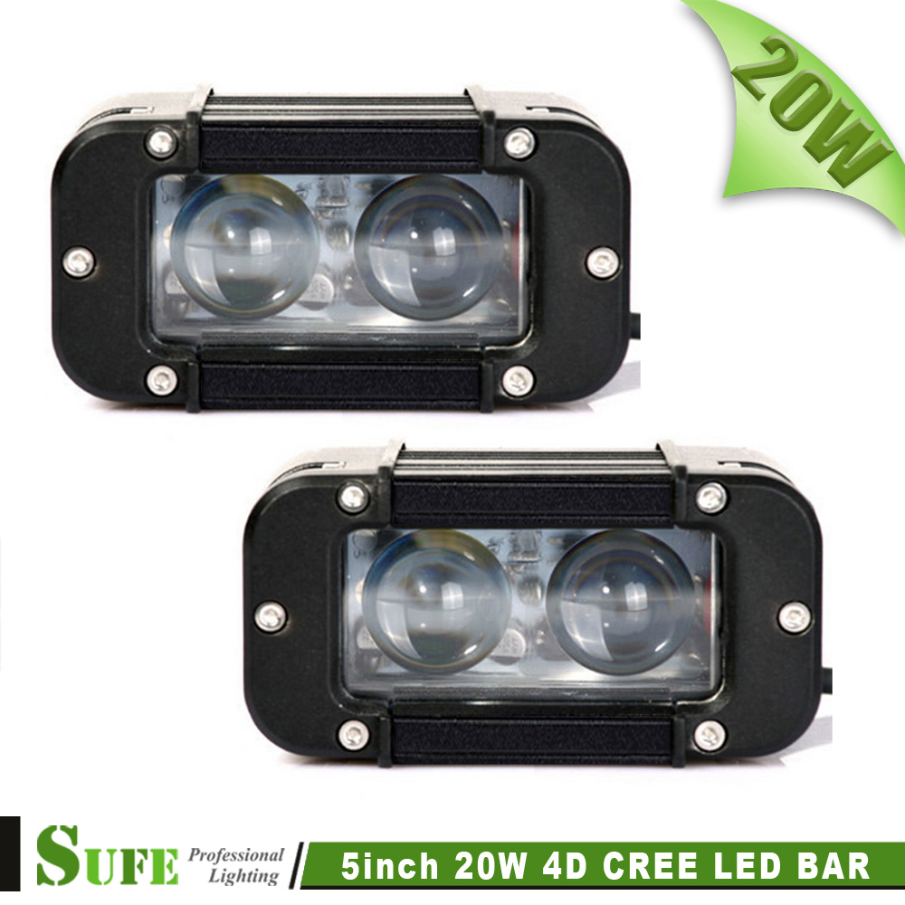 SUFE NEW Projector 5 2pcs*10W 20W LED Light Bar Offroad Work Light Bar For Truck 4X4 SUV Car Motorcycle Driving Headlight<br><br>Aliexpress